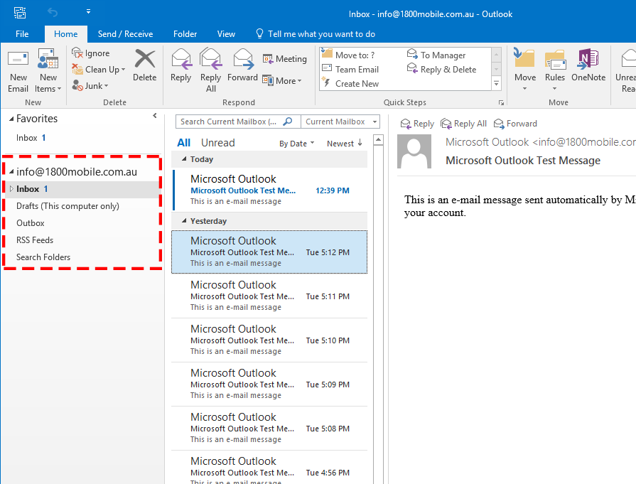 Outlook 2016 Step 12