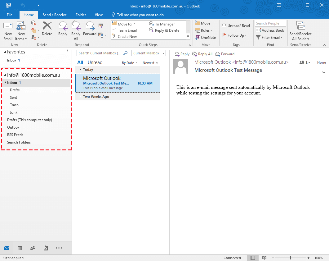 In microsoft office 2016 set up att email in microsoft outlook 2016